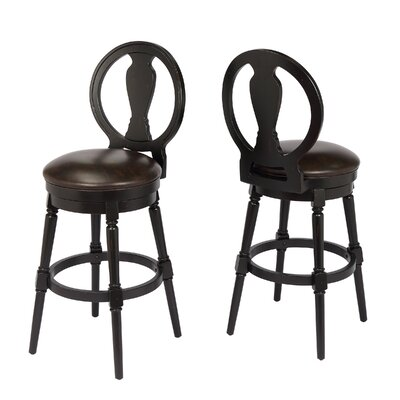 "Hasse 29"" Swivel Bar Stool Frame Color: Black"