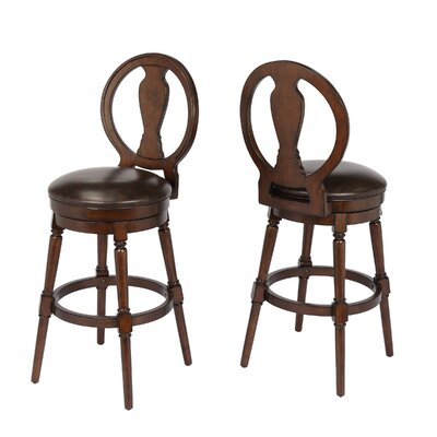 "Hasse 29"" Swivel Bar Stool Frame Color: Walnut"