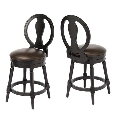 "Hasse 24"" Swivel Bar Stool Frame Color: Black"