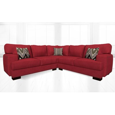 Jhon Sectional Upholstery: Sonoma Lipstick