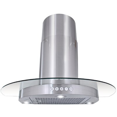 "30"" 312 CFM Convertible Wall Mount Range Hood Finish: Brushed Stainless Steel"