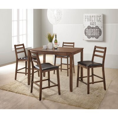Pascual 5 Piece Counter Height Dining Set