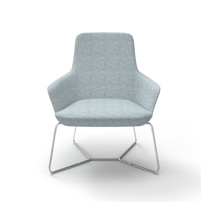 Superkool Metal Base Lounge Chair Seat Color: Light Blue