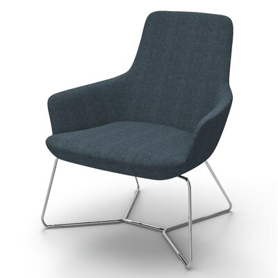 Superkool Metal Base Lounge Chair Seat Color: Navy