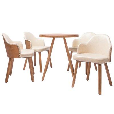 Lindell5 Piece Dining Set Color: White