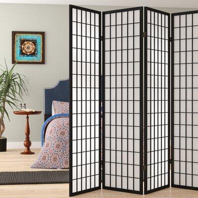 Marissa Shoji 5 Panel Room Divider Color: Black