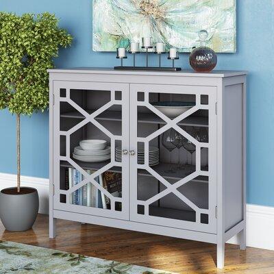Friedlander 2 Door Large Accent Cabinet Color: Gray