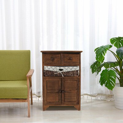 Alicea Natural 2 Drawer Accent Cabinet