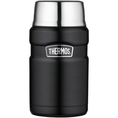 Stainless King Vacuum-Insulated Food Jar 24oz. Color: Matte Black