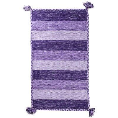 Pilcher Absorbent 100% Cotton Bath Rug Color: Purple