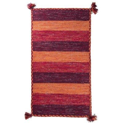 Pilcher Absorbent 100% Cotton Bath Rug Color: Red