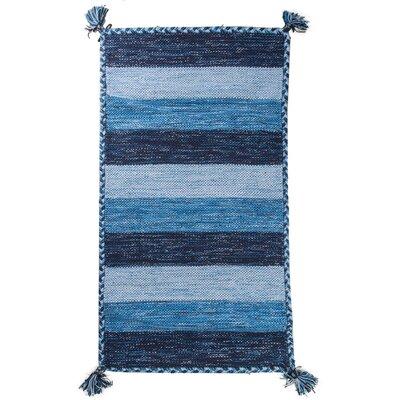 Pilcher Absorbent 100% Cotton Bath Rug Color: Blue