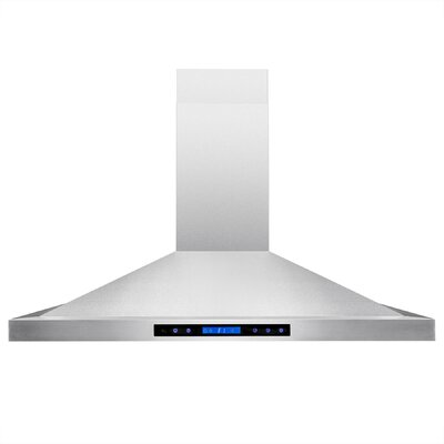 343 CFM Convertible Island Range Hood Chimney Height: 48""