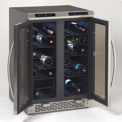 38 Bottle Dual Zone Side-By-Side Freestanding Wine Cooler