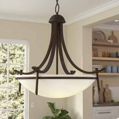 Hawkes 3-Light Bowl Pendant Finish: Rubbed Oil Bronze
