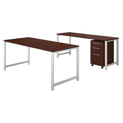 400 Series 3 Piece Desk Office Suite Color: Harvest Cherry