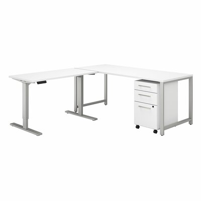 400 Series 3 Piece L-Shape Desk Office Suite Color: White
