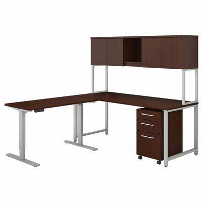 400 Series 3 Piece L-Shape Desk Office Suite Color: Harvest Cherry