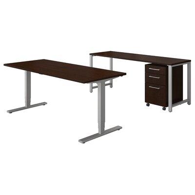 400 Series 3 Piece Desk Office Suite Color: Mocha Cherry