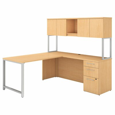 400 Series 4 Piece Desk Office Suite Color: Natural Maple