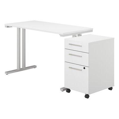 400 Series 2 Piece Desk Office Suite Color: White