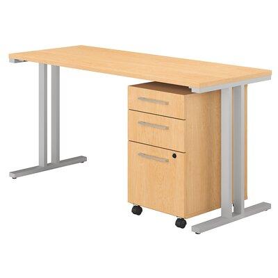 400 Series 2 Piece Desk Office Suite Color: Natural Maple