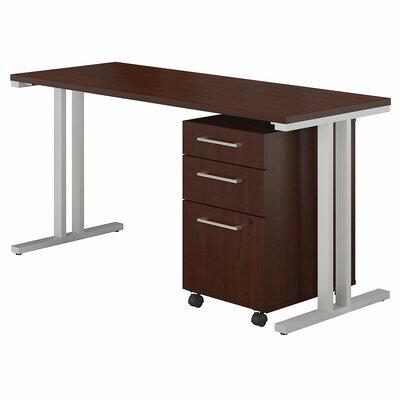 400 Series 2 Piece Desk Office Suite Color: Harvest Cherry