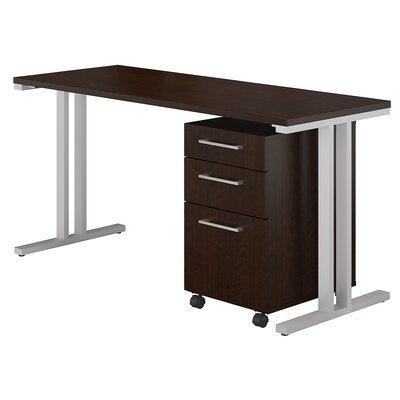 400 Series 2 Piece Desk Office Suite Color: Mocha Cherry