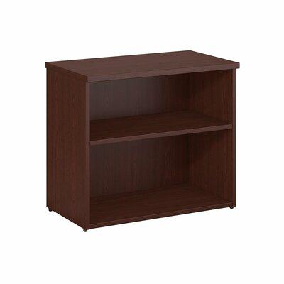 2 Shelf Standard Bookcase Color: Harvest Cherry
