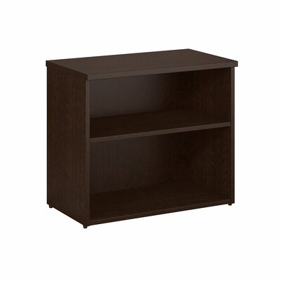 2 Shelf Standard Bookcase Color: Mocha Cherry