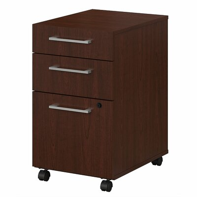 400 Series 3 Drawer Vertical Filing Cabinet Color: Harvest Cherry