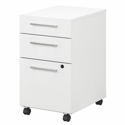 400 Series 3 Drawer Vertical Filing Cabinet Color: White