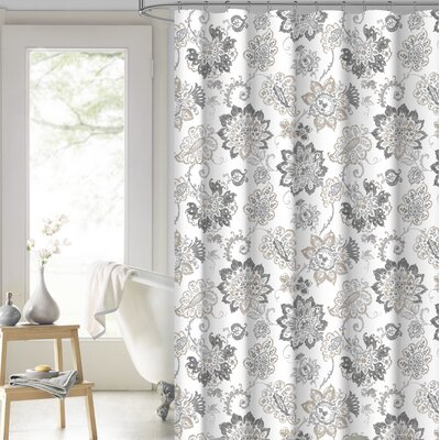 Damon Floral 100% Cotton Shower Curtain
