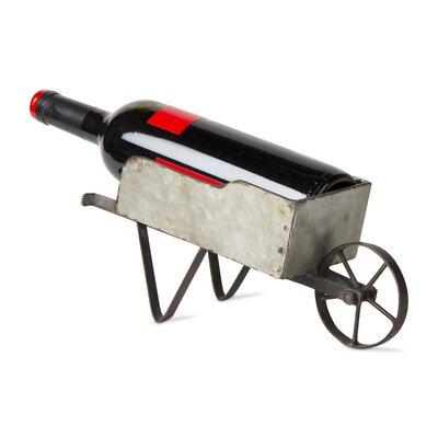 Wheelbarrow Tabletop Wine Bottle Holder