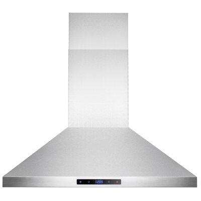 343 CFM Convertible Island Range Hood Chimney Height: 30""