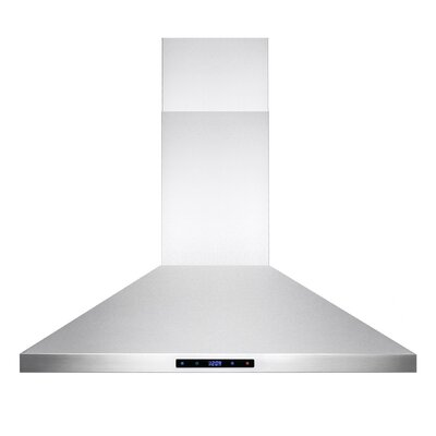 343 CFM Convertible Island Range Hood Chimney Height: 36""