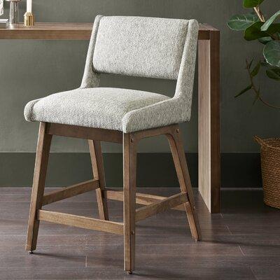 "William 25"" Bar Stool Upholstery: Light Gray"