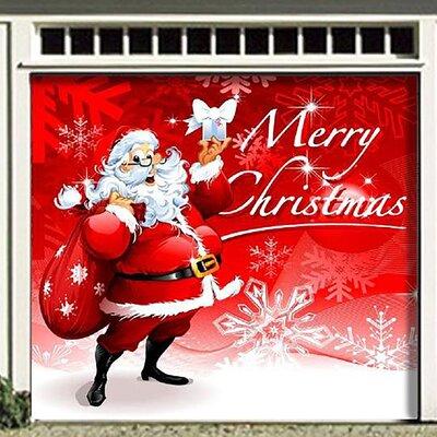 """Santa's Merry Christmas Garage Door Mural Size: 84"""" H x 96"""" W"""