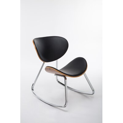 Besser Rocking Chair Upholstery: Black, Color: Brown