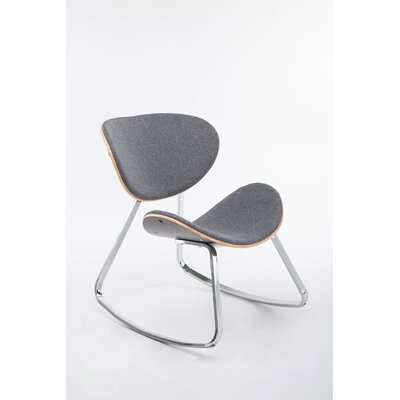 Besser Rocking Chair Upholstery: Gray, Color: Silver