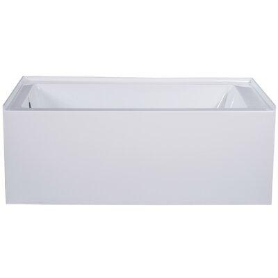 "Apron Acrylic 54"" x 30"" Alcove Soaking Bathtub Drain Location: Left"