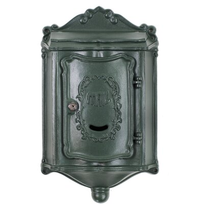 Colonial Locking Wall Mounted Mailbox Mailbox Color: Textured Green