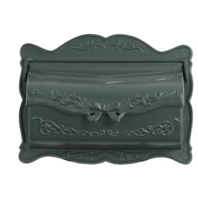 Provincial Wall Mounted Mailbox Mailbox Color: Textured Green