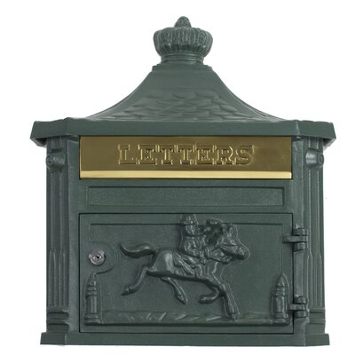 Victorian Locking Wall Mounted Mailbox Mailbox Color: Textured Green
