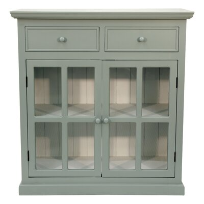 Charters Towers 2 Door Accent Cabinet Color: Antique Blue