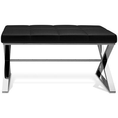 Miramontes Backless Vanity Stool Seat Color: Black, Frame Color: Polished Chrome