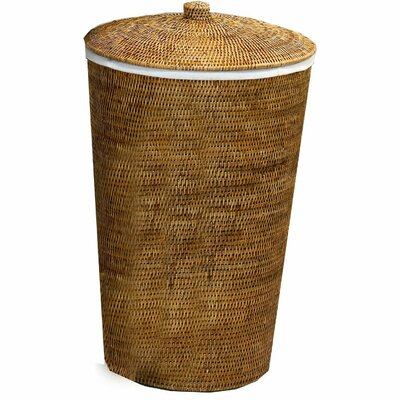 Single Laundry Hamper with Lid Color: Dark Rattan