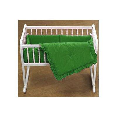 "Durkee Cradle Bedding Set Color: Green, Size: 15"" W x 33"" L"