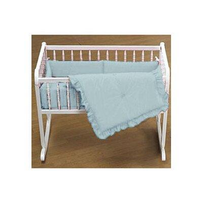 """Durkee Cradle Bedding Set Color: Light Blue, Size: 18"""" W x 36"""" L"""