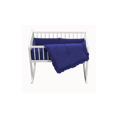 """Durkee Cradle Bedding Set Color: Navy, Size: 15"""" W x 33"""" L"""